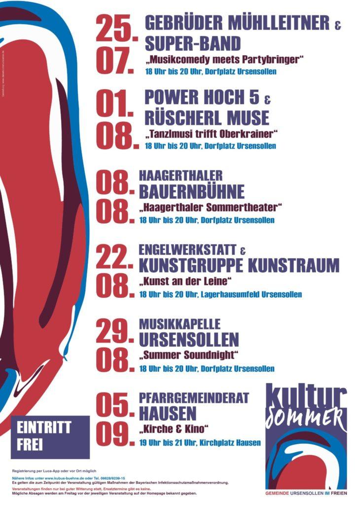 Plakat 2021_Kultursommer_Ursensollen